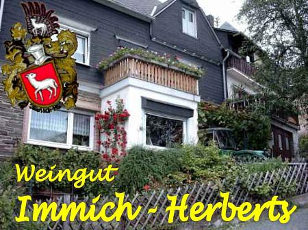Weingut Immich-Herberts<br /> Königstr. 14 - 56850 Enkirch