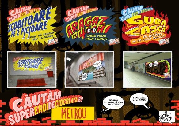super eroi metrou