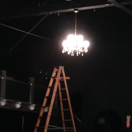 ladder chandelier