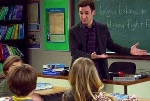 Cory teaching in Girl Meets World