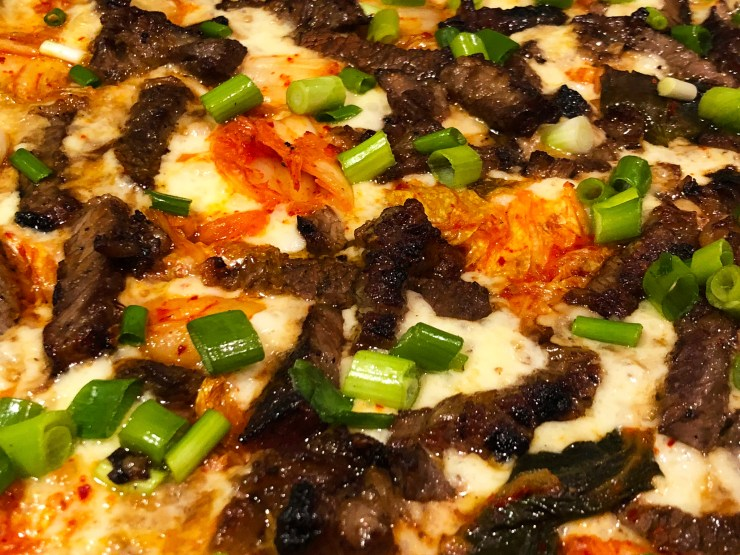 KOREAN BBQ BEEF PIZZA