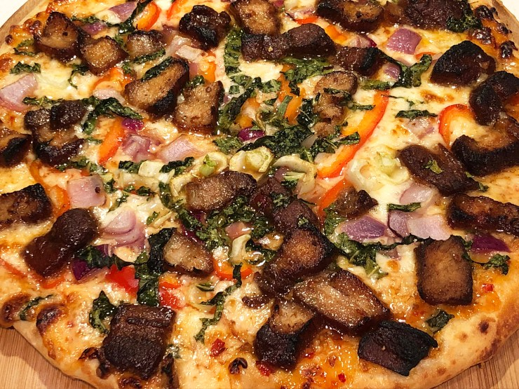 Szechuan Red Braised Pork Belly Pizza