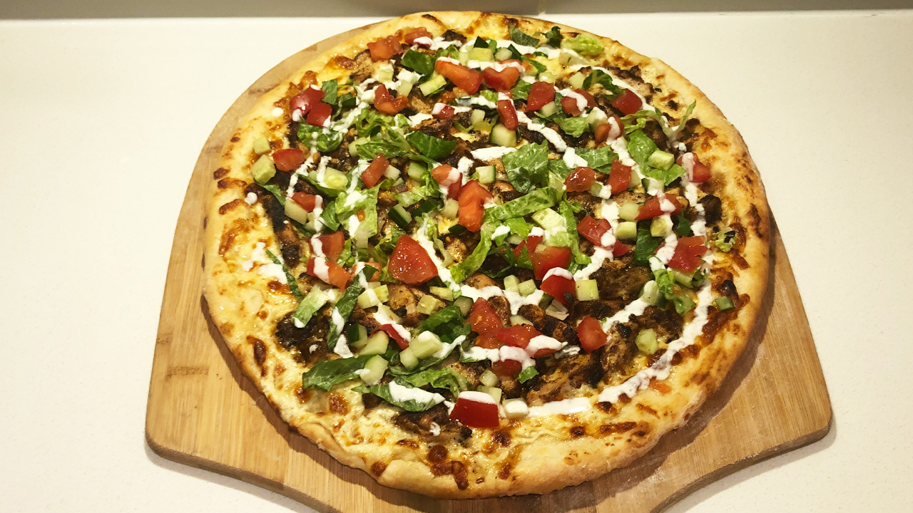 Chicken Shawarma Pizza Recipe