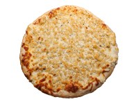 White cheddar pesto mac n' cheese pizza