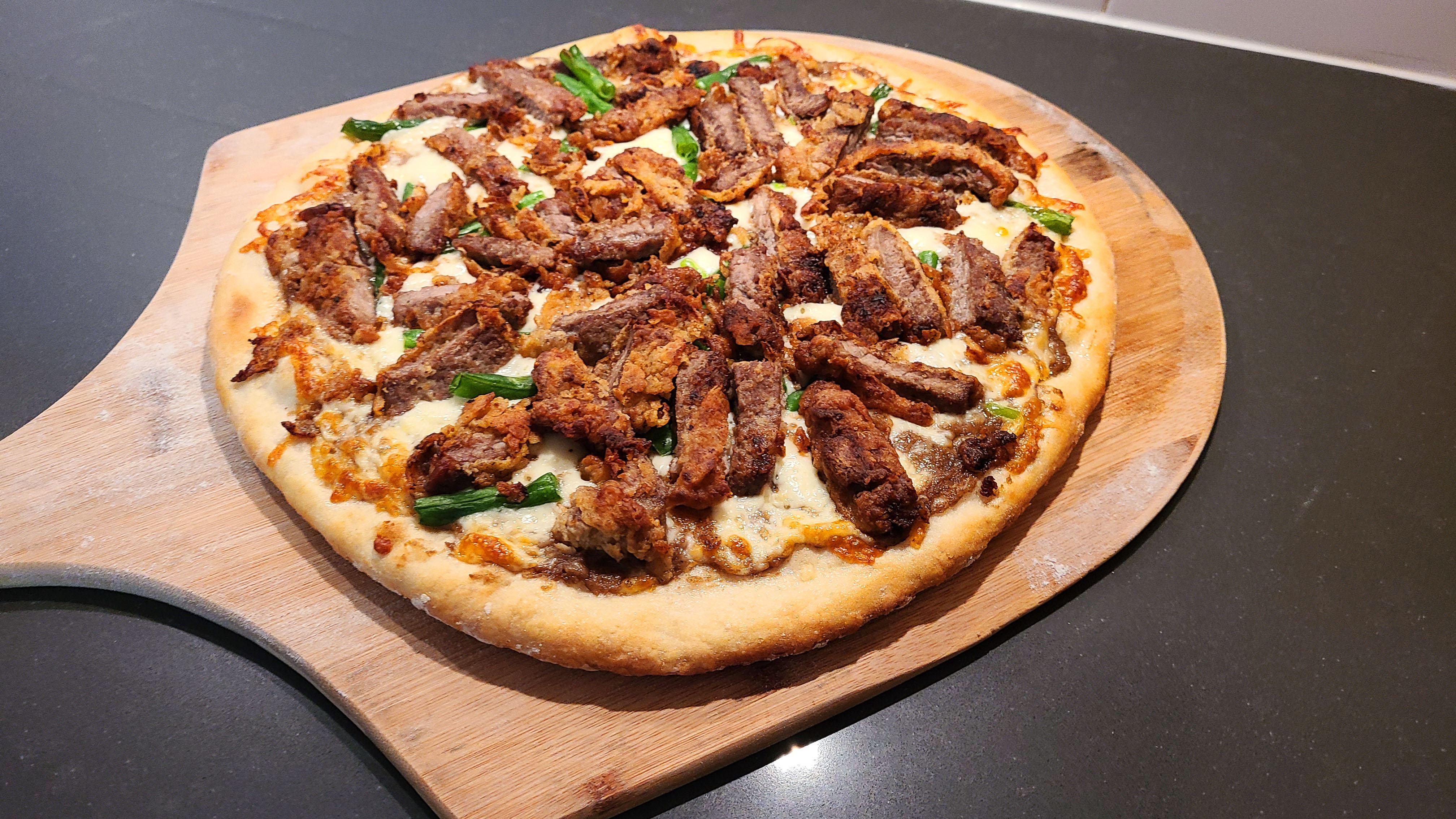 Chicken Fried Steak Pizza