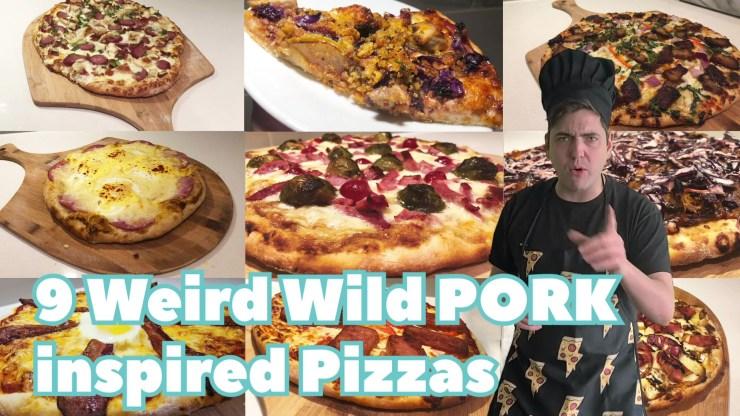 9 weird wild pork inspired pizzas