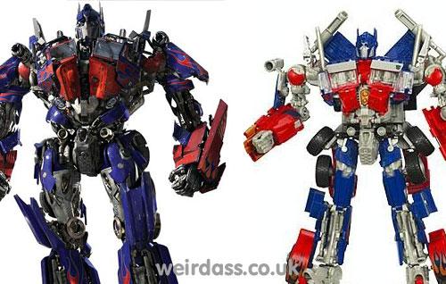 Optimus prime comparison - toy versus movie