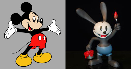Mickey Mouse and Oswald the Lucky Rabbit