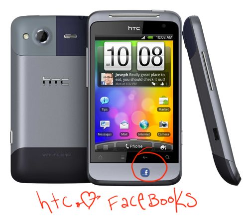 HTC Salsa one of the first Facebook phones is available from amazon. HTC Hearts Facebook