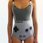 Ladies Gameboy Swimsuit! Resistance is Futile.