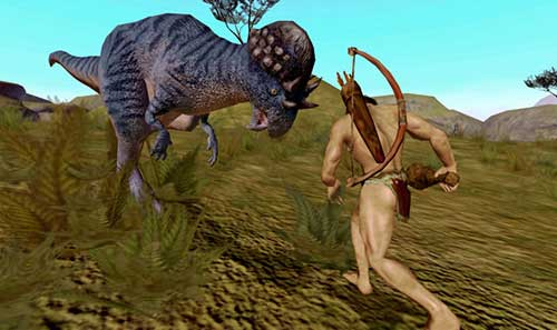 BC - Lionhead developed but cancelled game. - Dinosaur attacks cave-woman