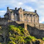 Edinburgh castle view of Hogwarts inspiration - Where did JK Rowling Write Harry Potter