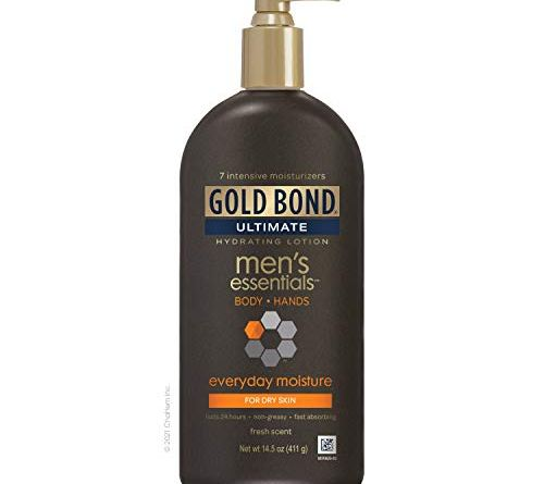 Gold Bond Men's Everyday Essentials Lotion, Fresh Scent, 14.5 Ounce, (Pack of 1)