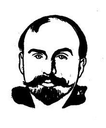 Marcel Schwob by Félix Vallotton, from Rémy de Gourmont's Book of Masks