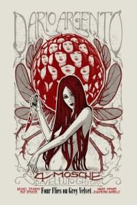 """Poster for the movie """"Four Flies on Grey Velvet"""""""