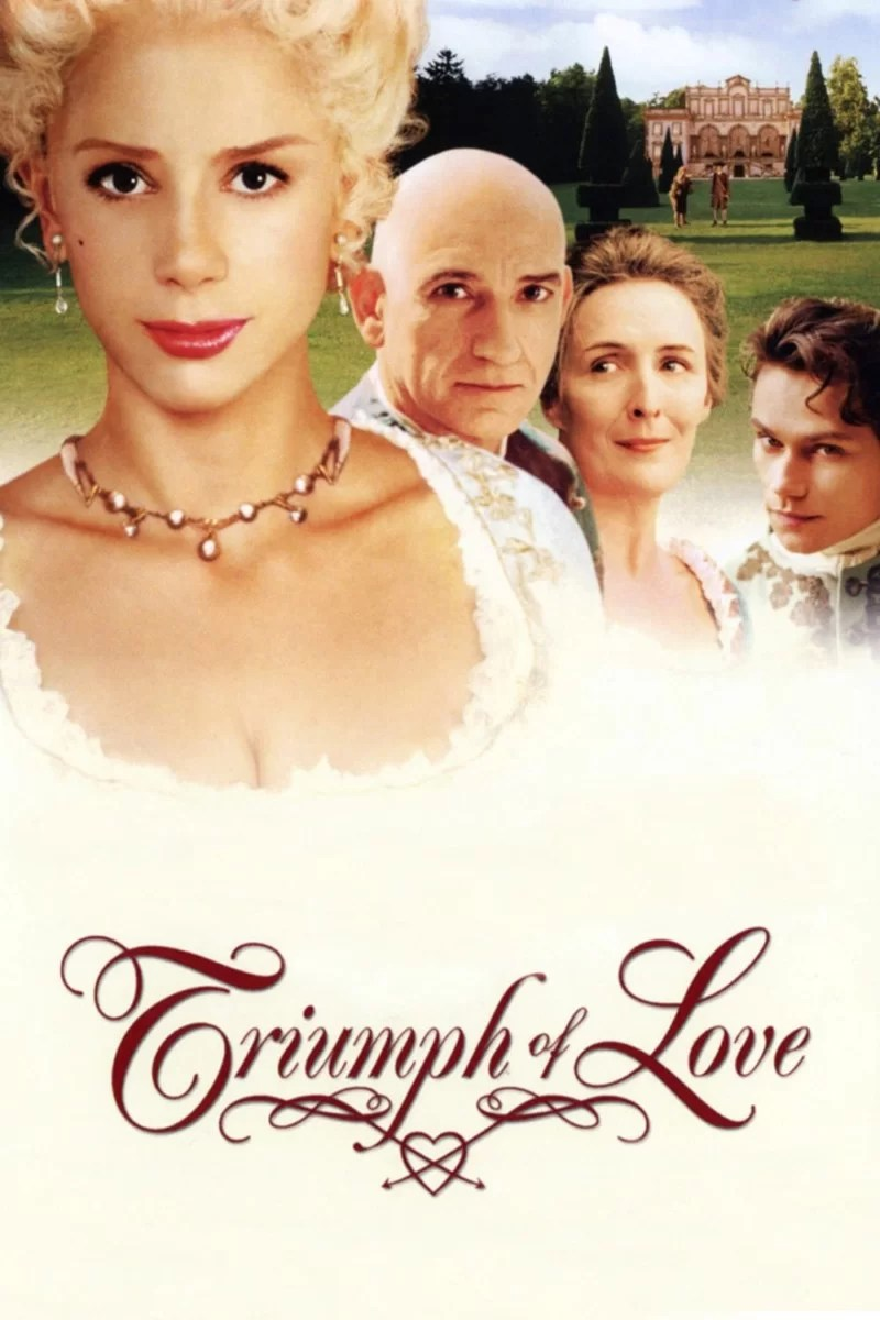 """Poster for the movie """"The Triumph of Love"""""""