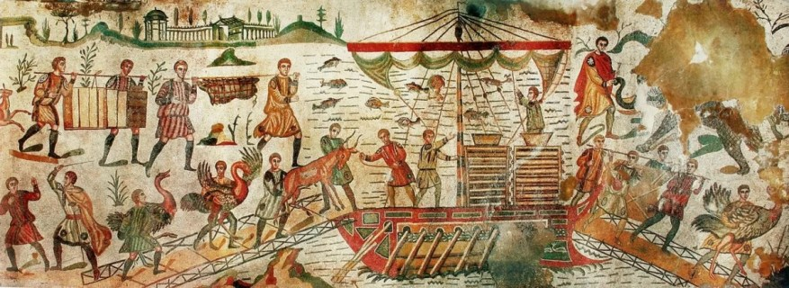 Great Hunt mosaic depicts the capture and transportation of animals