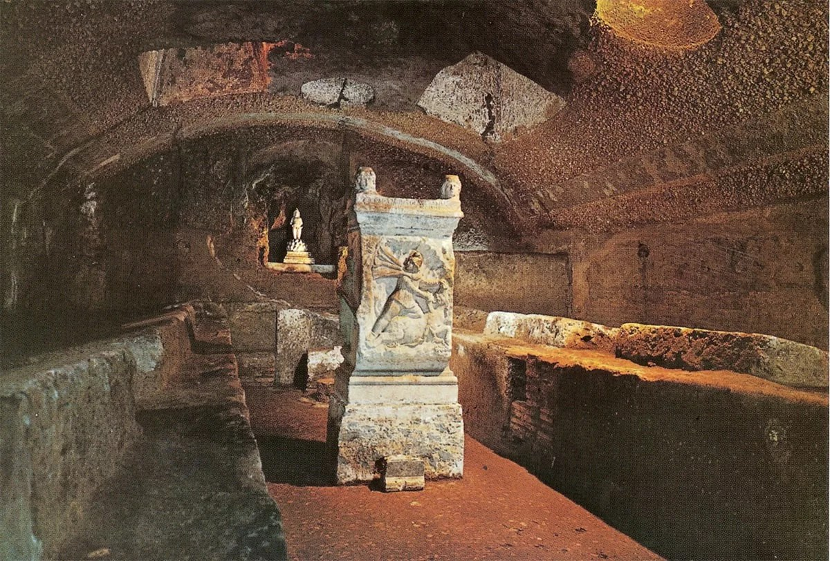 Large-polychrome-tauroctony-relief-from-the-mithraeum-of-S.-Stefano-Rotondo-end-of-the-3rd-century-AD-Baths-of-Diocletian-Museum-Rome