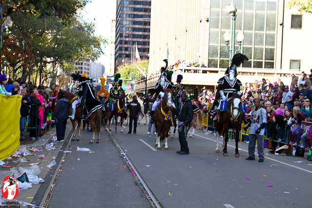 An Honor Guard of Masked Riders wait for the King Thoth