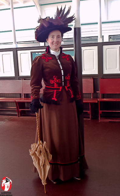 A lady luncheon on board the Balclutha
