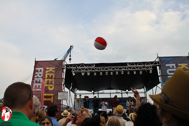 Follow the Bouncing Ball - Having fun at the French Quarter Fest!