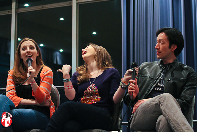 Caitlin Glass, Cherami Leigh, and Todd Haberkorn entertained the audience