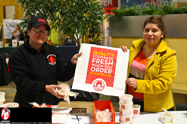 The ladies from Wendy's gave out free Frostys