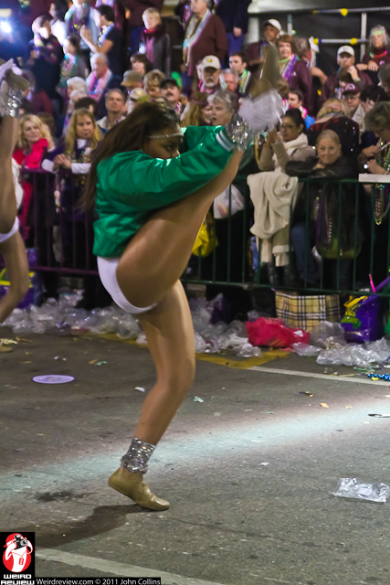 Bands, dancers, and gymnastic gyrators filled the streets as Endymion rolled