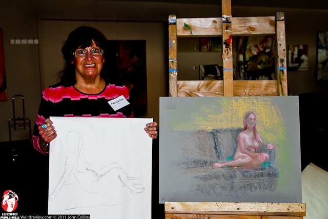 Artist Patricia Dee at the Artist Table Live Model event
