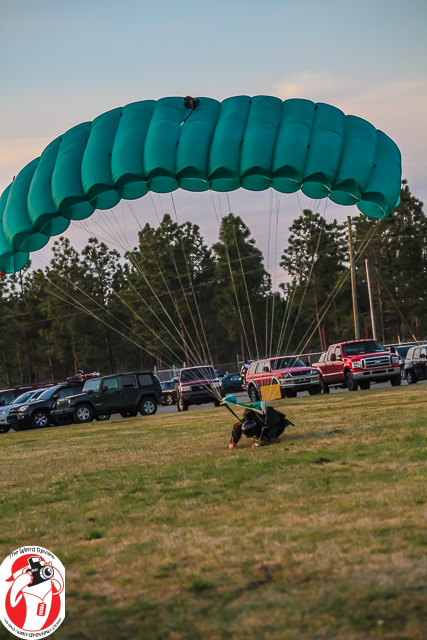 This skydiver demonstrates the purpose in wearing a helmet