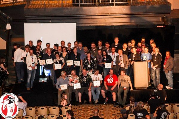 Winners of the Ennies at GenCon 2014 - Can you find Wizards of the Coast? Nobody could.