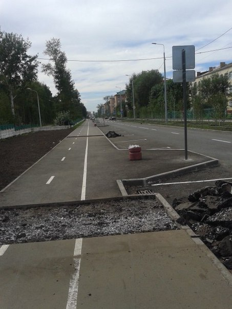 Sidewalks in Omsk