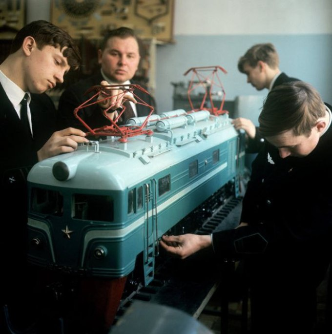 Students nurse to life the railroad locomotive baby, whose mother was killed by wild locomotives.