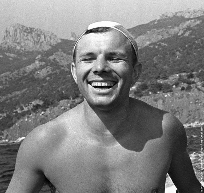 On his vacation in the Crimea, 17.08.1961