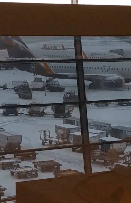 Drifting at Sheremetyevo airport