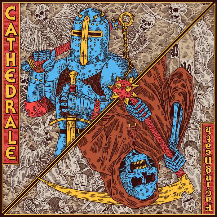 La pochette de Facing Death le nouvel album de Cathedrale!