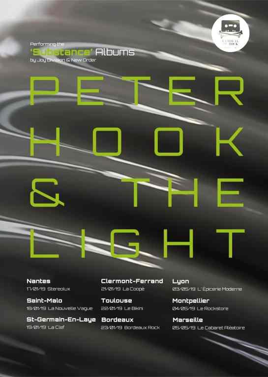 Peter Hook and the Light en tournée dans toute la France!