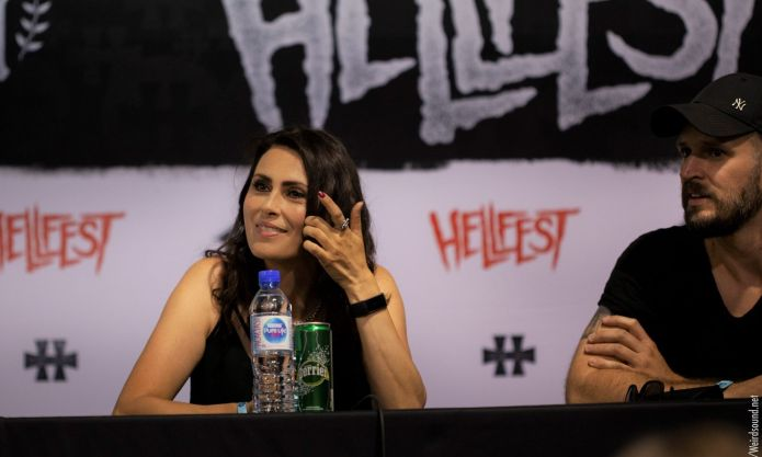 Conférence de presse within temptation Hellfest 2019 photo weirdsound