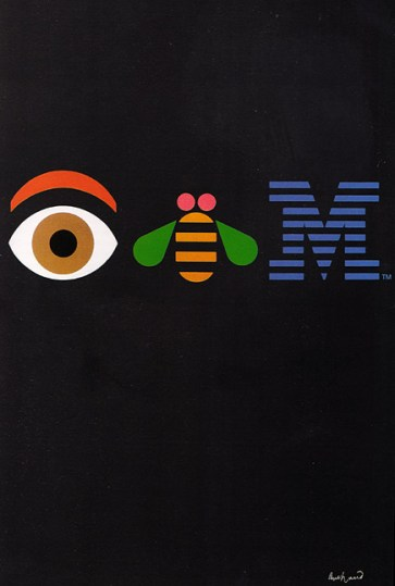 08-Eye Bee M poster designed by Rand in 1981 for IBM