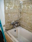 Old tub with tile gone