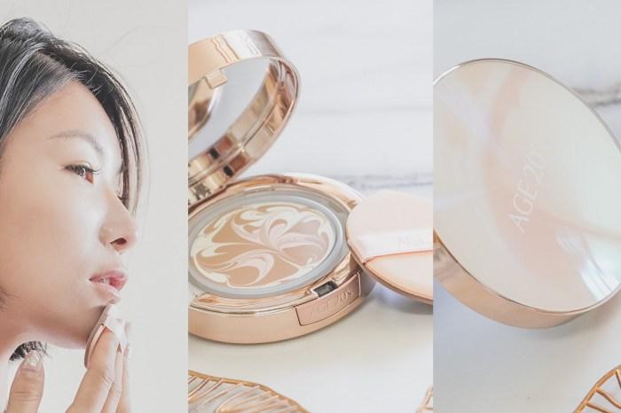 韓星透亮水潤的秘密,AGE20's 光感璀璨爆水粉餅一款不卡粉又持妝的粉餅