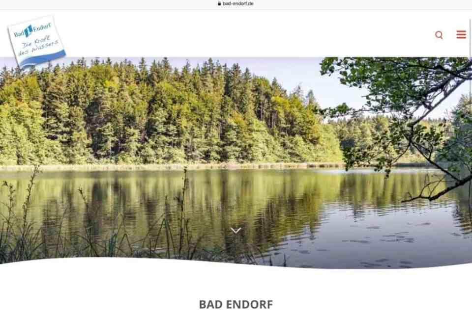 Ein Bilder der Homepage von Bad Endorf