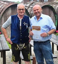 Toni Laurer, Bayerischer Kabarettist und Buchautor besuchte das Weißwurst Seminar