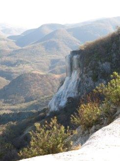 Der ausgetrocknete Wasserfall
