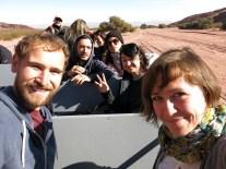 Unsere (für den Tag) erweiterte französische Reisebegleitung mit Damian, Maeva und Emilie