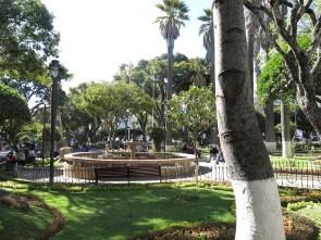 Der große zentrale Park von Sucre