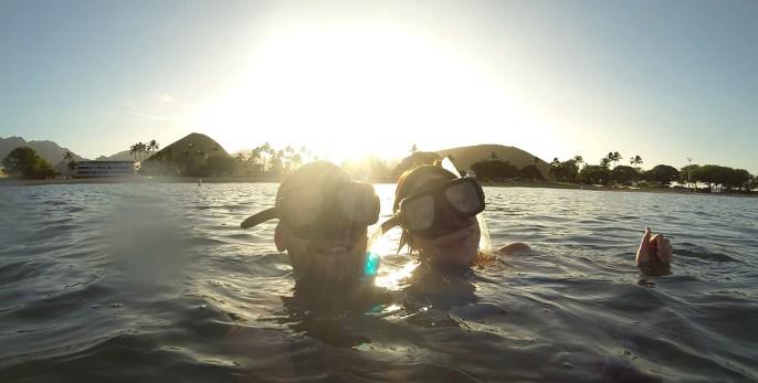 Frühschwimmen auf Hawaii