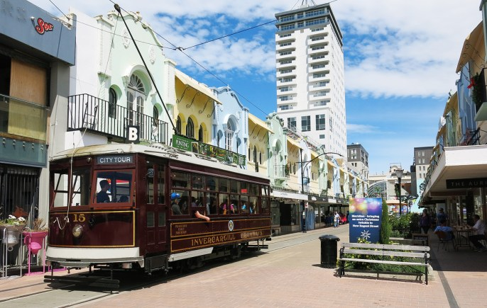 Die New Regent Street ist ein kleines heiles Highlight in Christchurch