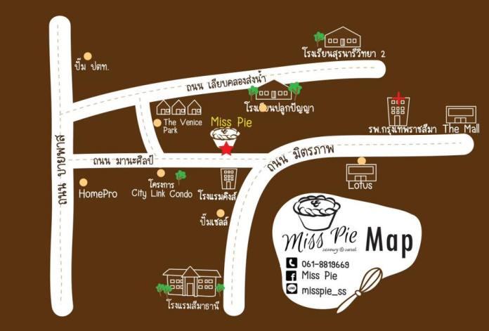 แผนที่ร้าน Miss Pie (ภาพจาก Facebook ร้าน)