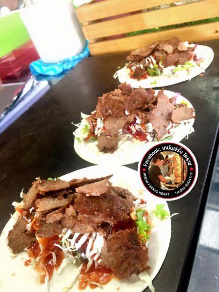 เคบับ (ภาพจาก FB : เคบับฝรั่ง โคราช Kebab Farang Korat)